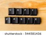 Small photo of Copy paste words with keyboard buttons