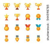 award icon vector pack | Shutterstock .eps vector #544598785