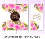vintage delicate invitation...   Shutterstock . vector #544607698
