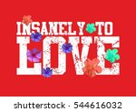 flower and love  graphic design ... | Shutterstock .eps vector #544616032