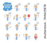 big set of old professor... | Shutterstock .eps vector #544619878