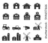 Barn Icon Set Vector...