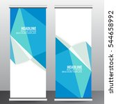 roll up business brochure flyer ...   Shutterstock .eps vector #544658992