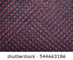 Pattern Of Red And Black Wicke...