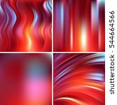 set of four square backgrounds. ... | Shutterstock .eps vector #544664566