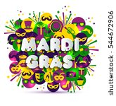 illustration of carnival mardi... | Shutterstock .eps vector #544672906