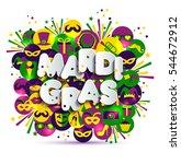 illustration of carnival mardi... | Shutterstock .eps vector #544672912