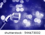 microphone in concert hall with ... | Shutterstock . vector #544673032