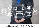 smart auto autonomous unmanned... | Shutterstock . vector #544677472
