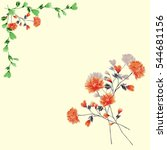 watercolor floral decoration.... | Shutterstock . vector #544681156