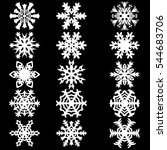 set snowflakes icons on white... | Shutterstock .eps vector #544683706