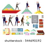 set of isolated financial... | Shutterstock .eps vector #544690192