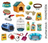 isolated pet care accessory... | Shutterstock .eps vector #544690306