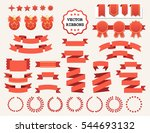 vector collection of decorative ... | Shutterstock .eps vector #544693132