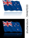 new zealand flag flowing