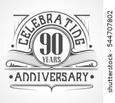 90 years anniversary...   Shutterstock .eps vector #544707802