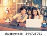 asian beautiful woman working... | Shutterstock . vector #544725082