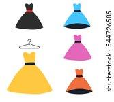 woman dress | Shutterstock .eps vector #544726585