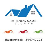 Stock vector real estate property and construction logo design for business corporate sign vector logo 544747225