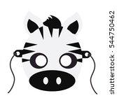 zebra animal carnival mask... | Shutterstock .eps vector #544750462