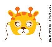giraffe animal carnival mask...   Shutterstock .eps vector #544752016