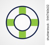 lifebuoy  icon  vector...   Shutterstock .eps vector #544760632