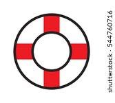 lifebuoy  icon  vector...   Shutterstock .eps vector #544760716