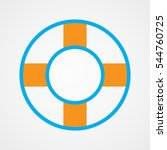lifebuoy  icon  vector... | Shutterstock .eps vector #544760725