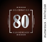 80th silver anniversary logo ... | Shutterstock .eps vector #544761268