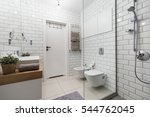 picture of white tiles in... | Shutterstock . vector #544762045
