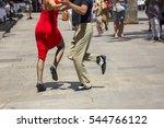 street dancers performing tango ... | Shutterstock . vector #544766122