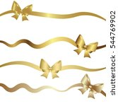 gold gift bow ties for ribbons.... | Shutterstock .eps vector #544769902