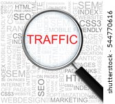 traffic. magnifying glass over... | Shutterstock .eps vector #544770616