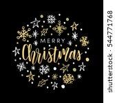 christmas greeting card ...   Shutterstock .eps vector #544771768