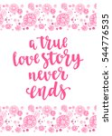 valentine's day quote. romantic ... | Shutterstock .eps vector #544776535