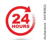 twenty four hour icon | Shutterstock .eps vector #544783822