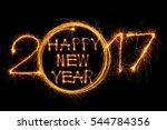 happy new year 2017 written... | Shutterstock . vector #544784356