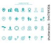 location icon set | Shutterstock .eps vector #544789306