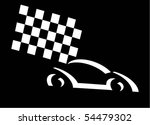 racing car on black background | Shutterstock .eps vector #54479302