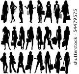 fashionable women going shopping   Shutterstock .eps vector #54479575
