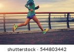 young fitness woman running at... | Shutterstock . vector #544803442