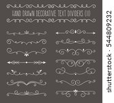 collection of cute hand drawn... | Shutterstock .eps vector #544809232