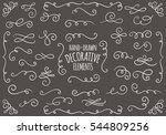 collection of hand drawn... | Shutterstock .eps vector #544809256