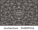collection of hand drawn... | Shutterstock .eps vector #544809316