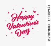 happy valentines day minimal... | Shutterstock .eps vector #544809685