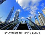 shanghai world financial center ... | Shutterstock . vector #544816576