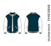 women sport varsity jacket...   Shutterstock .eps vector #544818868