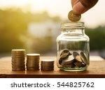 saving money for prepare... | Shutterstock . vector #544825762