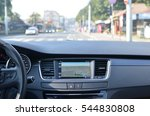 view from inside a car on a... | Shutterstock . vector #544830808
