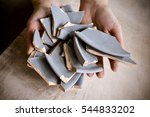 in hand debris or smithereens.... | Shutterstock . vector #544833202